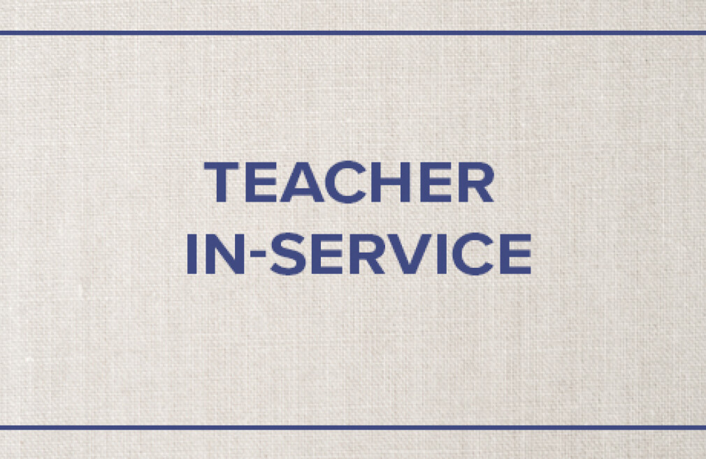 Teacher Inservice- No School